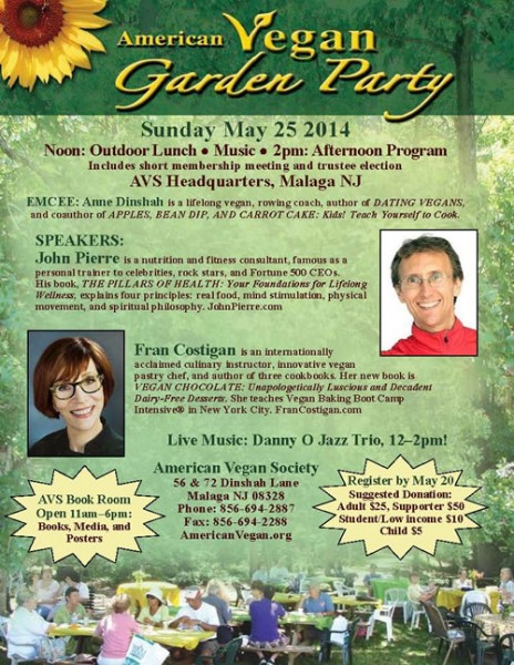 American Vegan Garden Party @ AVS Headquarters | Franklin | New Jersey | United States