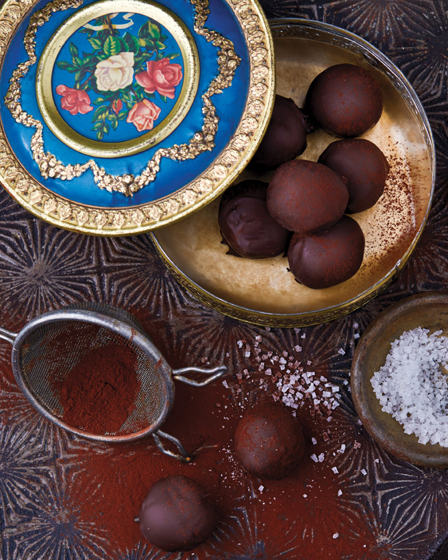 Spicy Ginger Truffles from Vegan Chocolate by Fran Costigan. Photo ©Kate Lewis