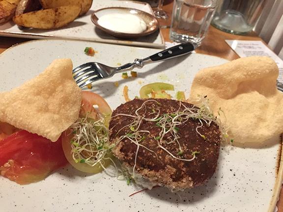 The eggplant burger