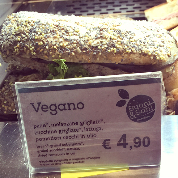 Vegan Sandwich Rome Airport