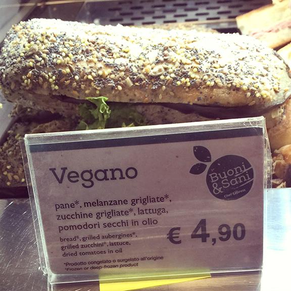 Vegan Sandwich Rome Airport