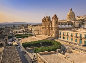 The city of Noto in Sicily