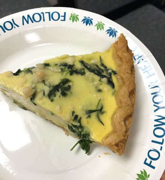 Quiche made with Follow Your Heart's VeganEgg