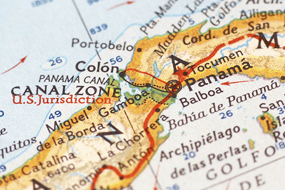 Panama Map from iStock