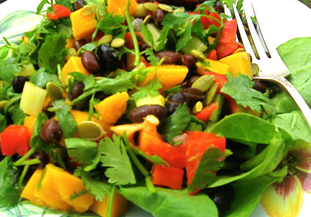 Ellen Kanner's Fireworks Black Bean and Mango Salad
