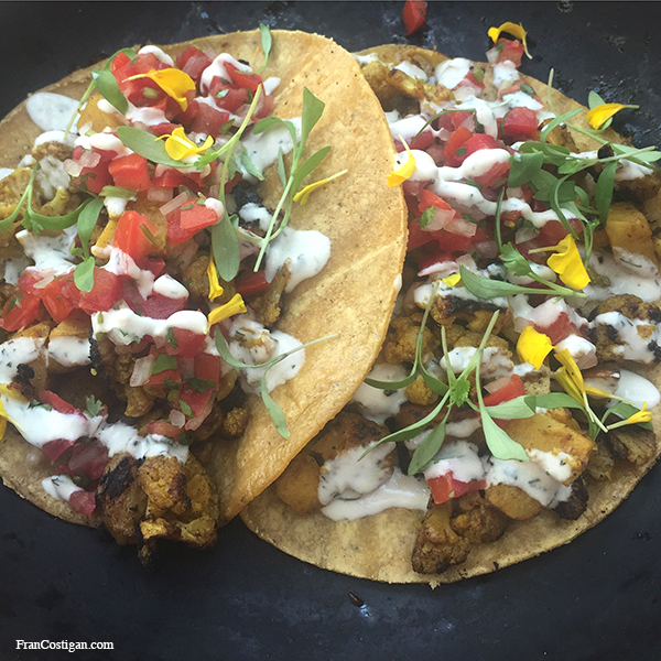 Curried Cauliflower Tacos from Plant Food + Wine